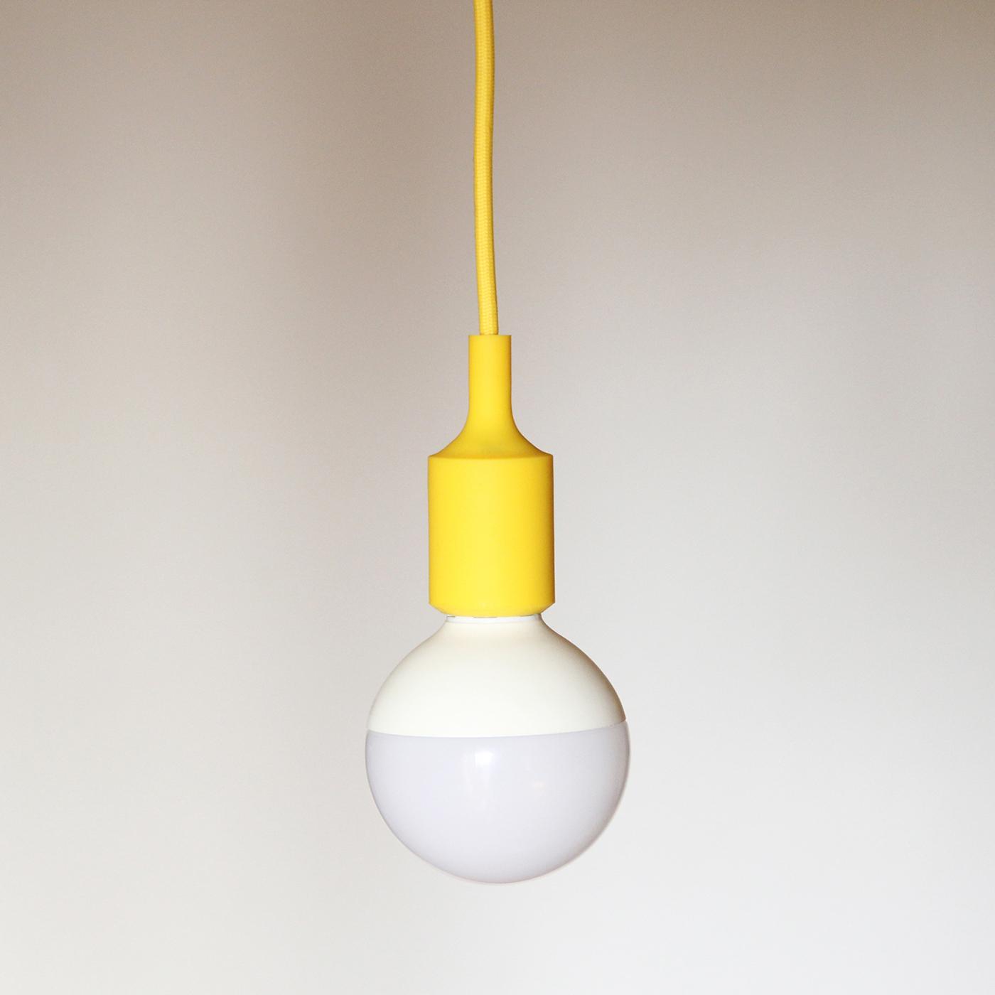 Colección Kit minimal: Cable téxtil, portalámparas de silicona y florón de colores