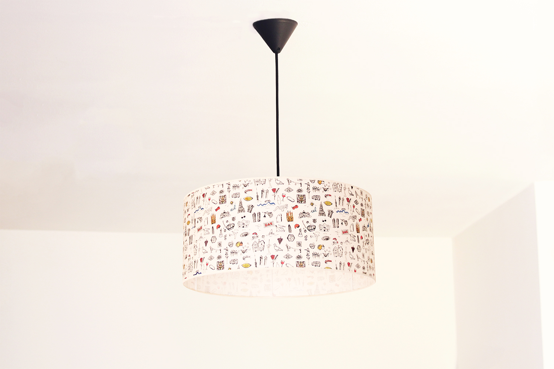 Lámpara de Techo XXL Barcelona Print