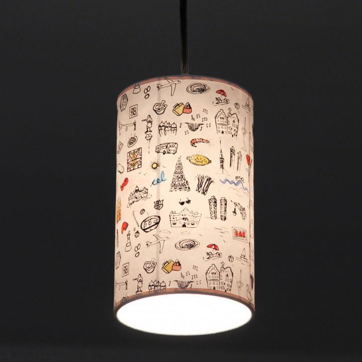 Lámpara de Techo Barcelona Print