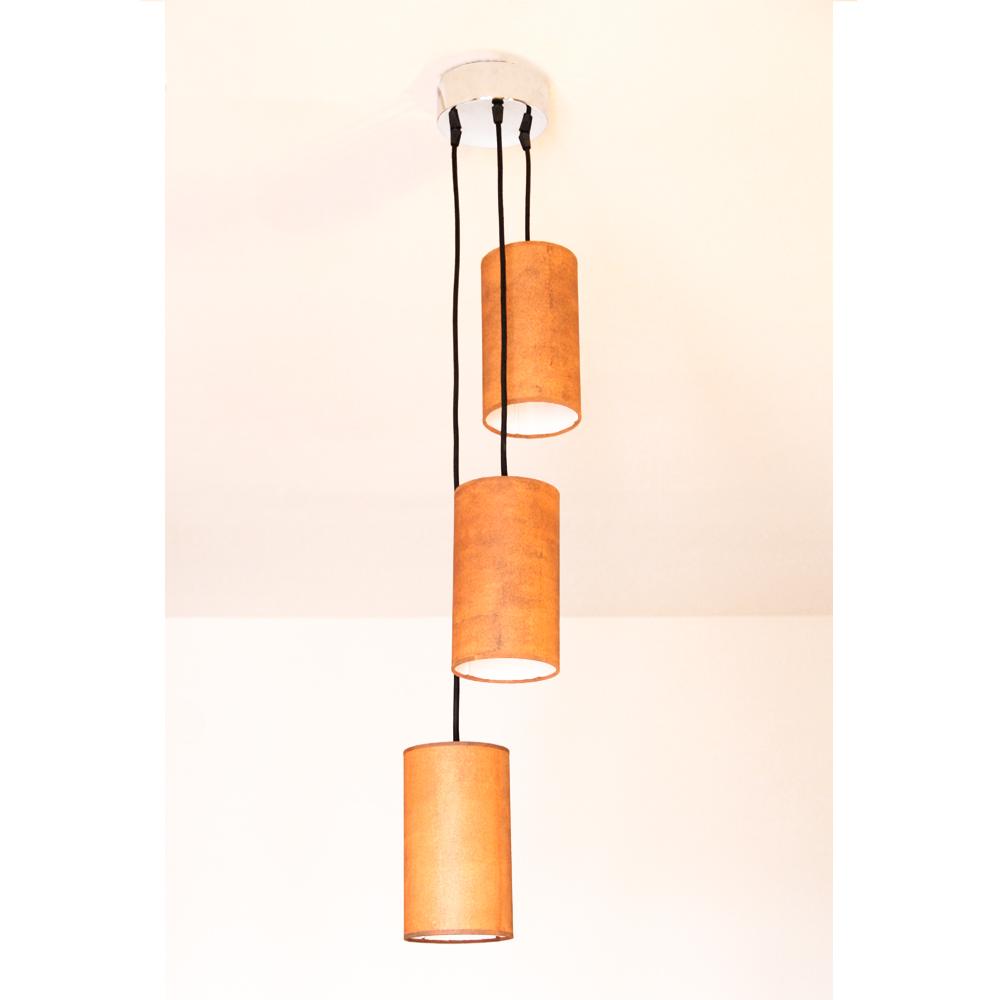 Lámpara de Techo Triple Cilindro Oxid