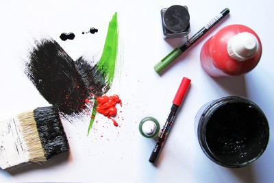 verde negro rojo luz de papel