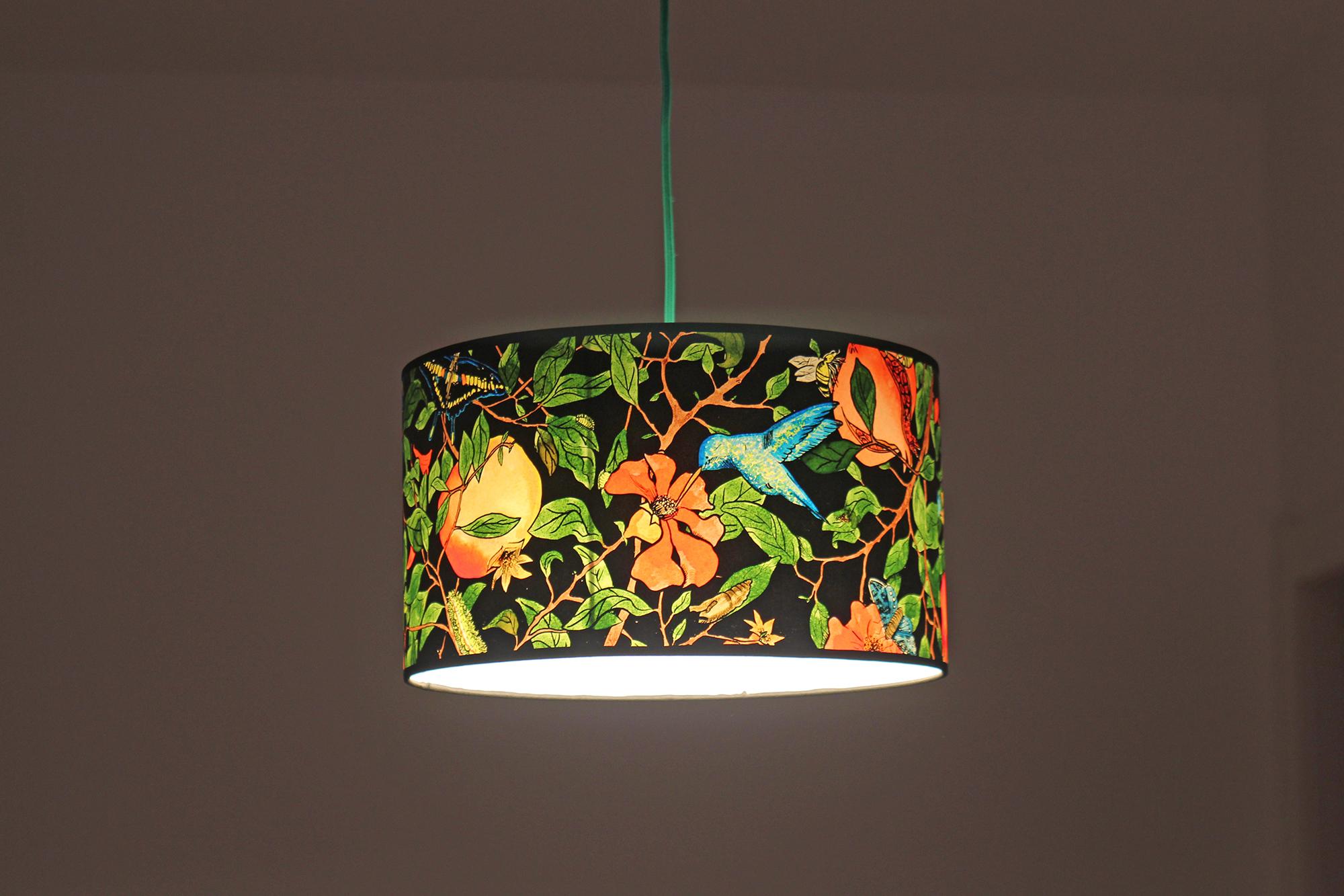 Lampara de techo colibri 35x20 luz de papel red2 - Lamparas de techo de papel ...
